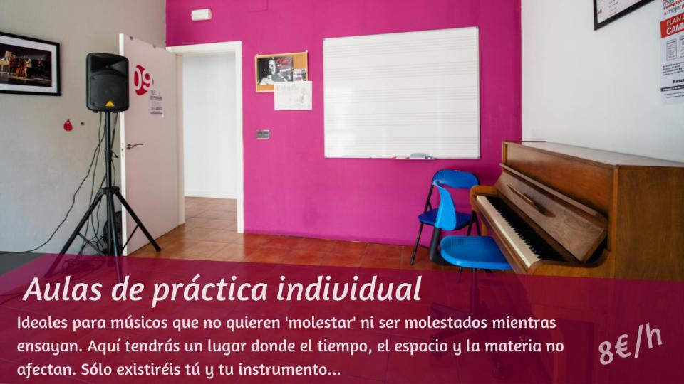 Aulas de práctica individual