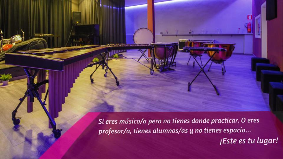 alquiler aula musicos y profesores